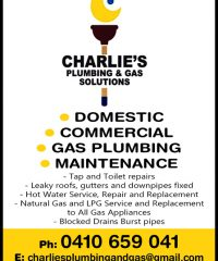 Charlie's Plumbing & Gas Solutions