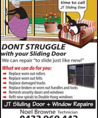 JT Sliding Doors & WIndow Repairs