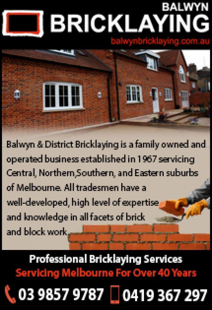 Balwyn Bricklaying
