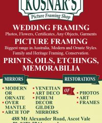 Kosnar's Picture Framing Shop