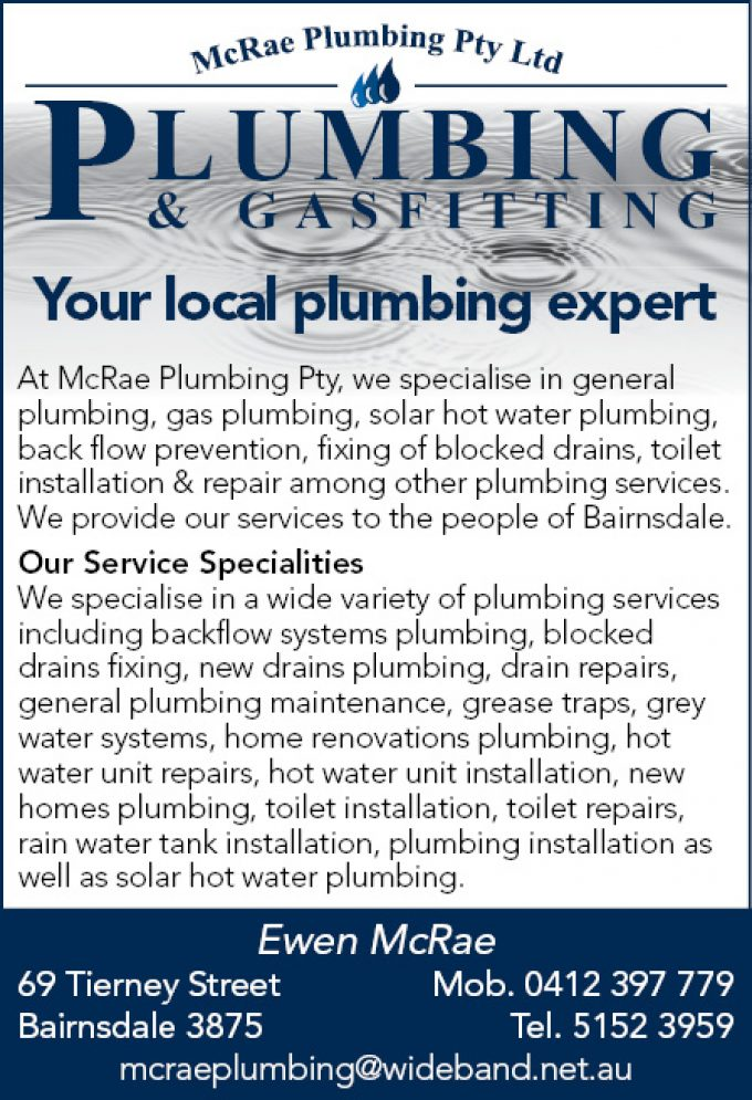 McRae Plumbing Pty Ltd