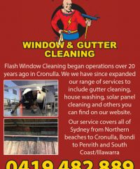 Flash Window & Gutter Cleaning