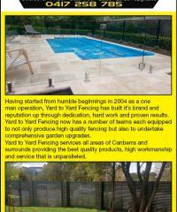 Yard to Yard Fencing