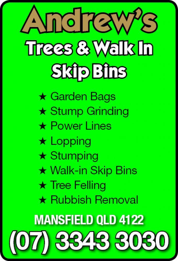 Andrew's Trees & Walk In Skip Bins