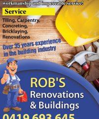 Rob's Renovations & Buildings