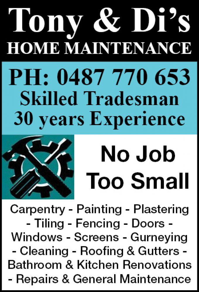 Tony & Di's Home Maintenance