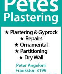 Petes Plastering