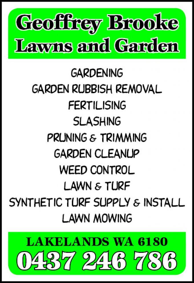 Geoffrey Brooke Lawns & Gardens