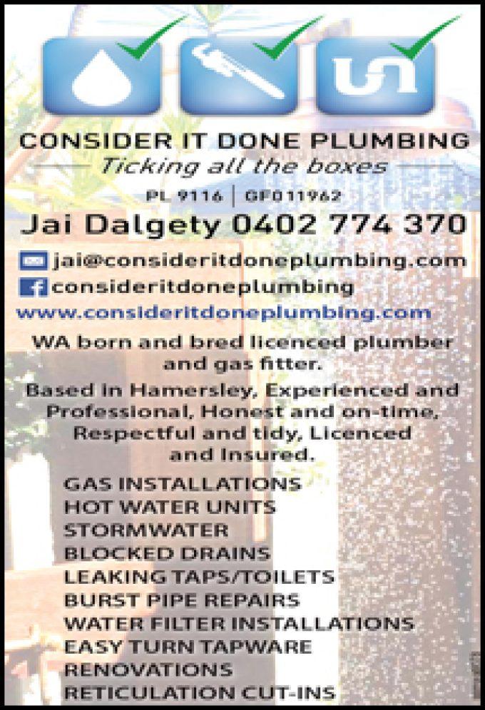Consider It Done Plumbing