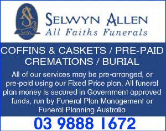 Selwyn Allen All Faiths Funerals