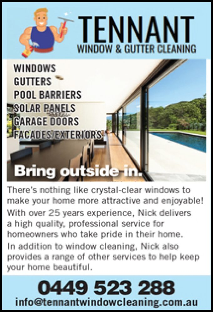 TENNANT  WINDOW & GUTTER CLEANING